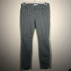 Cabi Ditsy Green Floral Skinny Pants